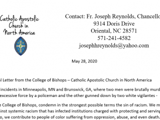 Pastoral Message from College of Bishops on Recent Incidents in Minneapolis and and Brunswick