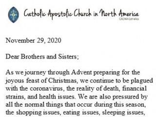 Presiding Bishop Santore's Christmas Letter